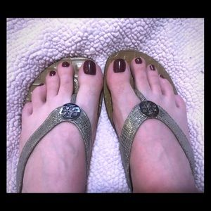 Authentic Tory Burch Thora sandals silver
